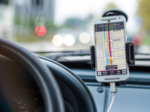 GPS while driving