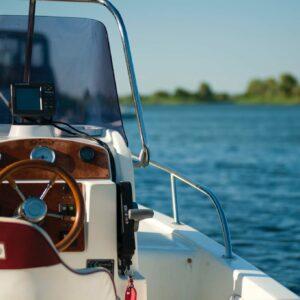 boat on open water
