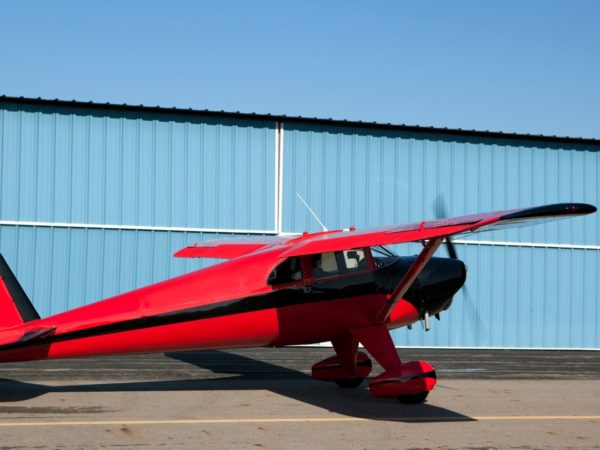 Small red personal aircraft