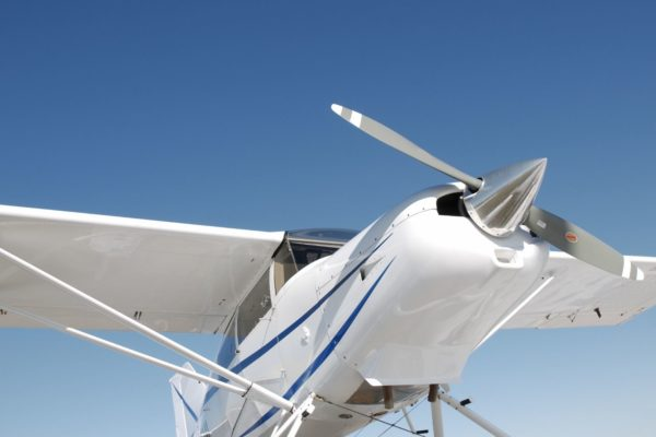 front of small aircraft