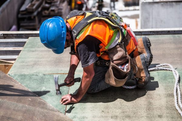 construction worker hammer